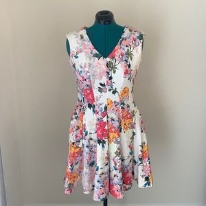 (8) Just...Taylor Floral Swing Dress